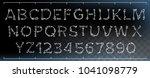 bone font vector. letters... | Shutterstock .eps vector #1041098779