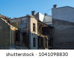 district with old town houses... | Shutterstock . vector #1041098830