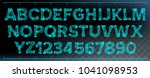x ray font vector. transparent... | Shutterstock .eps vector #1041098953
