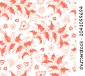 seamless pattern with fantasy... | Shutterstock .eps vector #1041099694