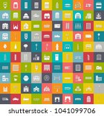 city elements icons ... | Shutterstock .eps vector #1041099706