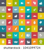 Stock vector vector zoo and farm animals icons set animals silhouette animalillustrations 1041099724