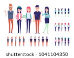 big vector set of young male... | Shutterstock .eps vector #1041104350