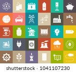 power energy icons  vector...