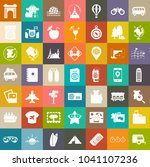 vector travel icons  vacation... | Shutterstock .eps vector #1041107236