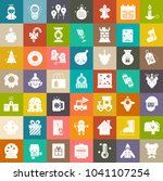 vector christmas icons set ... | Shutterstock .eps vector #1041107254