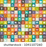 real estate icons  commercial... | Shutterstock .eps vector #1041107260
