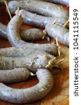 intestines to sausage food theme   Shutterstock . vector #1041115549