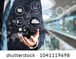 internet of things technology... | Shutterstock . vector #1041119698