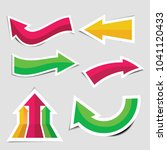 colorful arrow stickers with... | Shutterstock .eps vector #1041120433