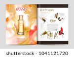 cosmetic magazine template ... | Shutterstock .eps vector #1041121720