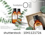 eucalyptus oil ads  elegant... | Shutterstock .eps vector #1041121726