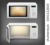 vector 3d realistic microwave... | Shutterstock .eps vector #1041122833
