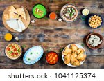 various dishes of pakistani and ... | Shutterstock . vector #1041125374