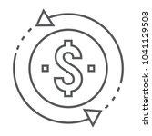 return on investment thin line... | Shutterstock .eps vector #1041129508
