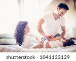 morning is time for family .    Shutterstock . vector #1041133129