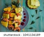 healthy sweet summer caribbean...   Shutterstock . vector #1041136189