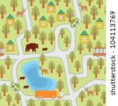 village in the forest seamless... | Shutterstock .eps vector #104113769