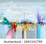 abstract oil painting landscape.... | Shutterstock . vector #1041141790
