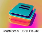 colourful file text icon on... | Shutterstock . vector #1041146230