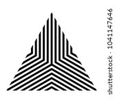 triangle with stripes  logo... | Shutterstock .eps vector #1041147646