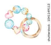 watercolor illustration of a... | Shutterstock . vector #1041149113