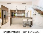 large kitchen interior with... | Shutterstock . vector #1041149623