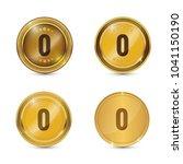 0 number circular vector gold...   Shutterstock .eps vector #1041150190