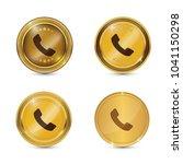 call circular vector gold web...   Shutterstock .eps vector #1041150298