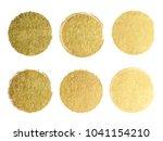 gold label with golden glitter... | Shutterstock .eps vector #1041154210