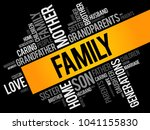 family word cloud collage  ... | Shutterstock .eps vector #1041155830