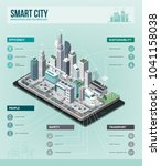 smart city  augmented reality... | Shutterstock .eps vector #1041158038