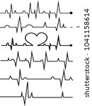 heart rate graphic. vector... | Shutterstock .eps vector #1041158614