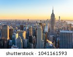 new york city   usa. view to... | Shutterstock . vector #1041161593