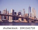 lower manhattan downtown... | Shutterstock . vector #1041161710