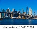 lower manhattan downtown... | Shutterstock . vector #1041161734