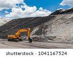 track type loader  excavator... | Shutterstock . vector #1041167524