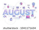 vector illustrate august. | Shutterstock .eps vector #1041171634
