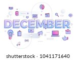 vector illustrate december. | Shutterstock .eps vector #1041171640