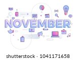 vector illustrate november. | Shutterstock .eps vector #1041171658