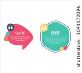 templates quotes flat color | Shutterstock .eps vector #1041172096