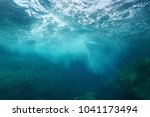 sea foam formed by wave... | Shutterstock . vector #1041173494