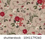 seamless floral pattern in... | Shutterstock .eps vector #1041179260