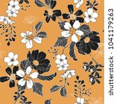 Stock vector seamless floral pattern in vector 1041179263