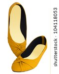yellow shoes isolated on white | Shutterstock . vector #104118053