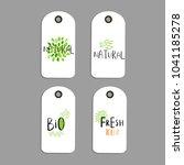 vector eco badge or tag  bio... | Shutterstock .eps vector #1041185278