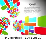 abstract beautiful mosaic... | Shutterstock .eps vector #104118620