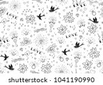 old school tattoos seamles... | Shutterstock .eps vector #1041190990