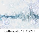 Abstract Background with snowflakes, beautiful blue illustration - stock photo