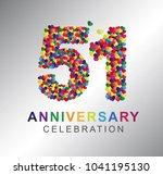 51st anniversary design... | Shutterstock .eps vector #1041195130